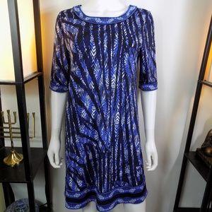 BCBGMaxAzria Blue Shift Dress